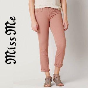 Miss Me jeans dusty pink easy crop denim NWT